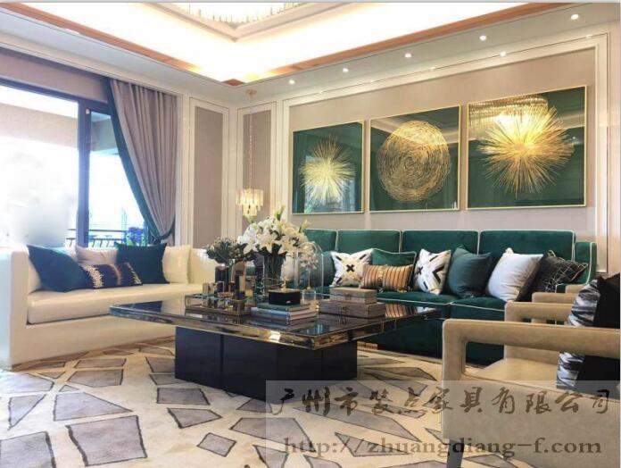 碧桂园天誉现代欧式奢华样板房家具案例